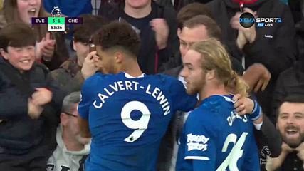 Трети гол за Евертън във вратата на Челси