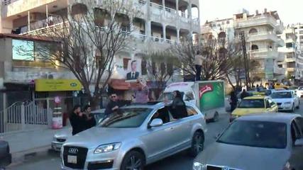 Шествието на Сирийците в град Латакия на 28.05.2011г. първа част