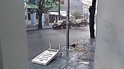 """""""Моята новина"""": Улиците на Видин по време и след пороя и градушката"""