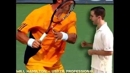 Тенис уроци : Форхенд | Изнасяне на ръката