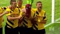 Футболист си слага маска на Спайдърмен след като отбелязва гол