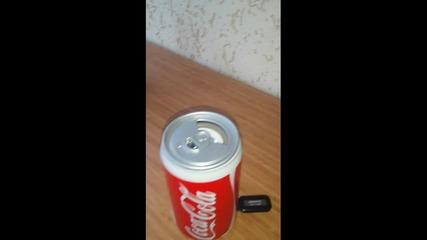 Тонколона и Мр3 плейър в кенчè от Coca-cola,fanta,pepsi