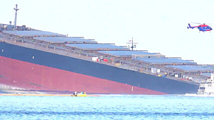 Mauritius: Emergency teams try to prevent further oil spill from damaged cargo ship