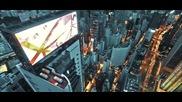 Руснаци хакват гигантски LCD екран на покрива на небостъргач да покажат кадри от изкачването си !