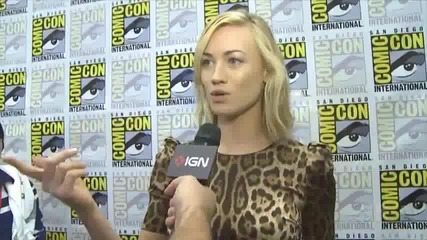 Yvonne Strahovski - Comic Con 2011 - Interview with Ign