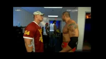 John Cena & Cryme Time (+ Batista) Backstage