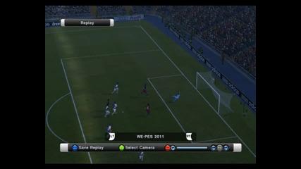 Прекрасно изпълнение на Andres Iniesta - Pro Evolution Soccer 2011 (9/10)