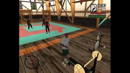 Моя Герой на Gta San Andreas Dirty Mod Как дига във Фитнеса !!