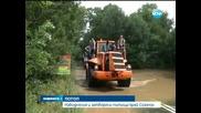Бедствено положение в Приморско, две реки преливат