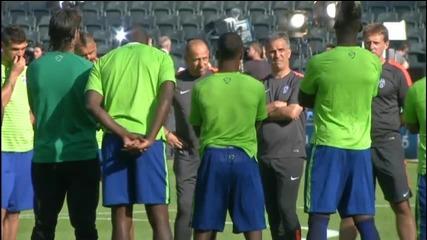 Тренировките на Барселона и Ювентус преди финала