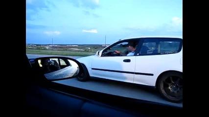 Camaro Ss vs. Civic B16 Turbo