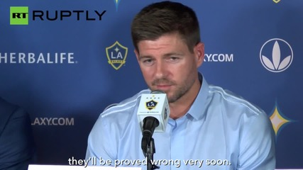 Football Legend Steven Gerrard Ready to Shine at L.A. Galaxy