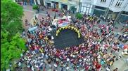 """Първи уличен карнавал """"ПЛОВДИВ ТАНЦУВА"""" - видян от въздуха"""