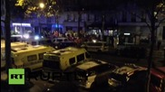 France: Emergency services line the streets outside Bataclan theatre, Paris