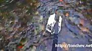 Сгъваем преносим грвитационен хидрогенератор с шарнирни лопати за плитки речни води tonchev.net
