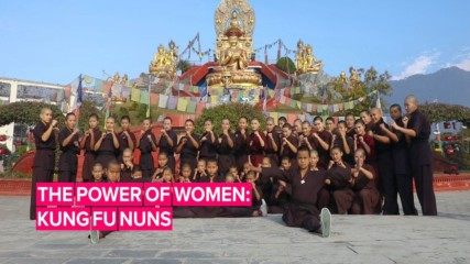 Nepal's Kung Fu Nuns have their sights set on climate change