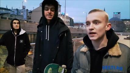 Полицаи изгониха скейтъри от новото Ларго