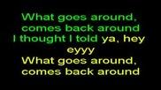 Justin Timberlake - What Goes Around...comes Around - karaoke.flv