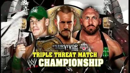 Wwe Survivor Series 2012 Wwe Title Triple Treath John Cena vs Ryback vs Cm Punk