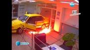 Габровец нахлу с Колата си в Общината и я Подпали