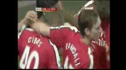 Страхотен гол на C.vela (arsenal - Sheffield United)