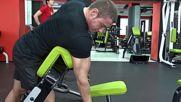 Фитнес упражнения - Сгъване за бицепс от обратната страна на скотова пейка