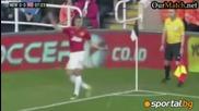 Нюкасъл 0-3 Манчестър Юнайтед (07.10.2012) Еванс, Евра, Клавърли