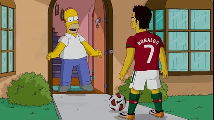 Хоумър се среща с Кристиано Роналдо