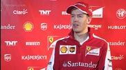 Sebastian Vettel speaks at the launch of the Ferrari Sf-15t.