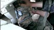 Котка в амортисьор на кола