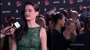 Звездата Ева Грийн дава интервю на премиерата на филма си Град на Греха 2 (2014)