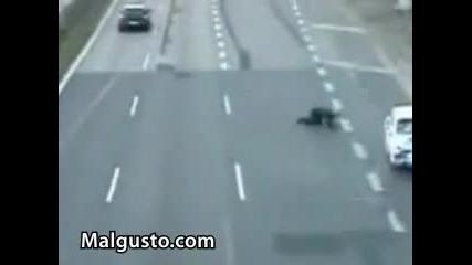 Най - лошото за един мотоциклетист!