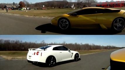Lamborghini Murcielago vs Nissan gtr
