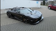 Koenigsegg One1 1360 к.с - Loud start up, engine running, driving Hd