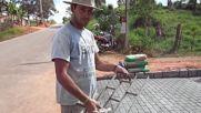 Още една чудесна идея! Вижте как можете да направите красива имитация на тротоарни плочки или тухли!