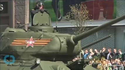 Russia's 'Masterpiece' Tank Breaks Down in Public