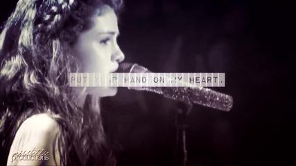 Сложи ръка на сърцето ми.+selena&justin;