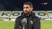 Тунчев: Играхме бавно, не търсихме по-бързо движение на топката