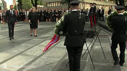Norway: PM and Royal Family attend 5th aniv. commemoration of Breivik's attacks