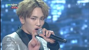 Best Friend( Toheart, Xiumin, Dongwoo) - Tell me why + Delicious ( Special Stage) @ 141219 Kbs Music