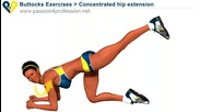 Concentrated hip extension