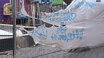 Germany: See aftermath of fire that broke out in front of Berlin's vacated Libeig34 squat
