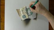 Реалистично рисуване на стара банкнота от един паунд!