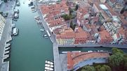Венеция и Канал Гранде от птичи поглед