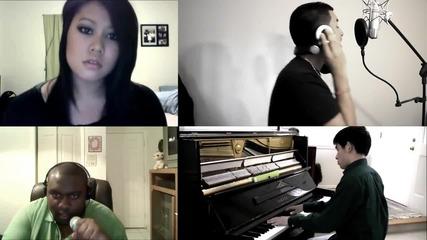 4 човека изпълняват невероятно песента на Eminem ft. Rihanna - Love The Way You Lie