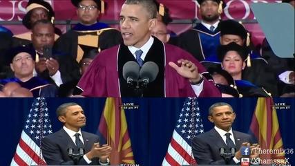 Барак Обама пее Happy на Фарел Уилямс