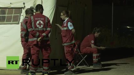 Нoв бежански лагер в Рим, след като Франция засили охраната по границата си с Италия