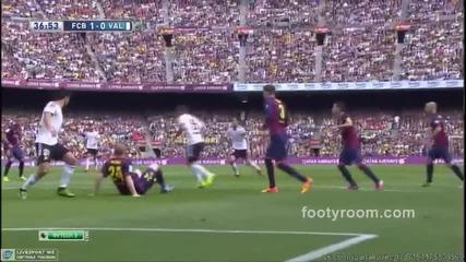 Светкавичен Суарес и гол №400 на Меси нокаутираха Валенсия! 18.04.2015 Барселона - Валенсия 2:0