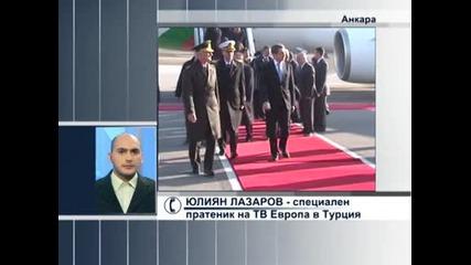 Енергетиката е основната тема в разговорите между президентите на България и Турция в Анкара