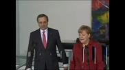 Самарас увери Меркел, че Гърция полага огромни усилия за справяне с кризата